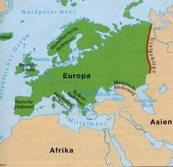 Asien Europa Grenze Der Kontinent Europa 2019 12 28