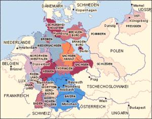 wie viele länder grenzen an deutschland